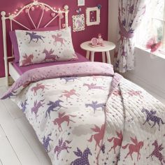 Divine Unicorns Reversible Kids Duvet Cover Set - Multi