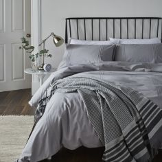 Catherine Lansfield Minimalist Duvet Cover Set - Grey