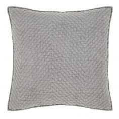 Catherine Lansfield Stone Wash Diagonal Cushion Cover - Grey