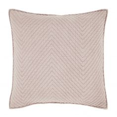 Catherine Lansfield Stone Wash Diagonal Cushion Cover - Blush