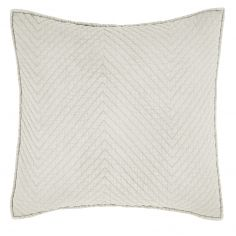 Catherine Lansfield Stone Wash Diagonal Cushion Cover - Natural