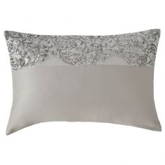 Kylie Minogue Cadence Satin Sequins Housewife Pillowcase - Silver Grey