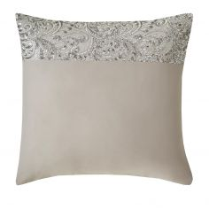Kylie Minogue Cadence Satin Sequins Square Pillowcase - Silver Grey