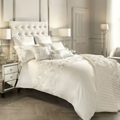Kylie Minogue Adele Satin Sequins Duvet Cover - Oyster Cream