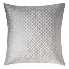 Kylie Minogue Gia Quilted Velvet Square Pillowcase - Ombre Grey