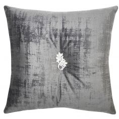 Kylie Minogue Saturn Velvet Filled Cushion - Silver Grey