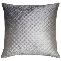 Kylie Minogue Gia Quilted Velvet Filled Cushion - Ombre Grey