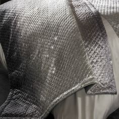 Kylie Minogue Gia Quilted Velvet Throw - Ombre Grey