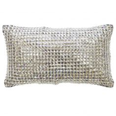Kylie Minogue Square Diamond Filled Boudoir Cushion - Silver Grey