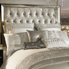 Kylie Minogue Atmosphere Pleated Velvet Housewife Pillowcase - Ivory Cream