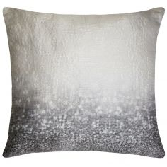Kylie Minogue Glitter Fade Square Pillowcase - Silver Grey