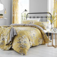 Catherine Lansfield Canterbury Duvet Cover Set - Ochre Yellow