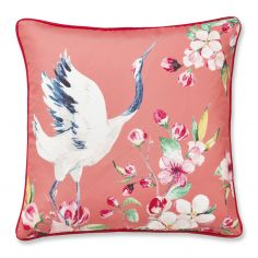Catherine Lansfield Heron Cushion Cover - Coral Pink