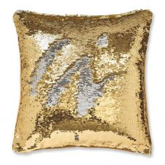Catherine Lansfield Sequin Mermaid Cushion Cover - Gold