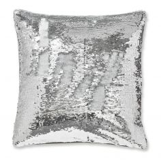 Catherine Lansfield Sequin Mermaid Cushion Cover - Silver