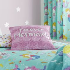 Catherine Lansfield Mermaids Forever Cushion Cover - Pink