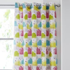 Catherine Lansfield Clouds Kids Fully Lined Eyelet Curtains - Multi