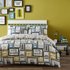 Catherine Lansfield Dream Big Cotton Rich Duvet Cover Set - Multi