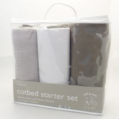 Elli & Raff 3 Piece Cot Bed Starter Set - Grey