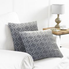 Pack of 2 Bohemia Cushion Covers - Grey