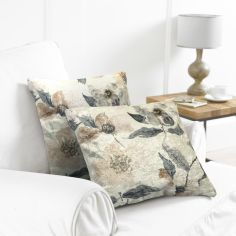 Pack of 2 Water Colour Cushion Covers - Natural/Grey