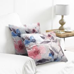 Pack of 2 Water Colour Cushion Covers - Blush/Grey