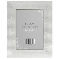 Metallic Look Glam Photo Frame - Silver