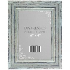 Antique Look Distressed Photo Frame - Silver