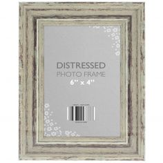 Antique Look Distressed Photo Frame - Cream