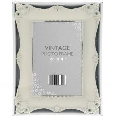 Vintage Style Distressed Photo Frame - Cream