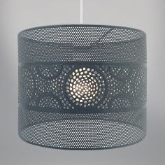 Metal Light Fitting - Grey