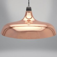 Coolie Dome Light Fitting - Glossy Copper