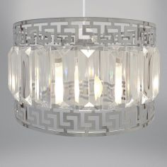 Deco & Gems Light Fitting - Silver