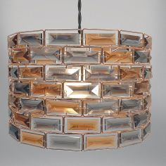 Copper & Smoke Gem Light Fitting