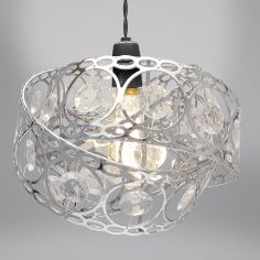 Silver Gem Wrap Light Fitting