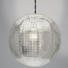 Nouveau Cadiz Ball Light Fitting - Silver
