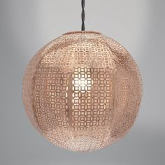 Nouveau Cadiz Ball Light Fitting - Copper