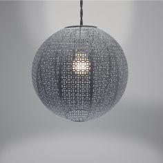Nouveau Cadiz Ball Light Fitting - Grey