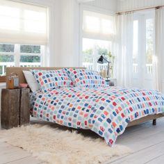 St Ives Reversible 100% Cotton Duvet Cover Set - Multi