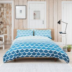 Mermaids 100% Cotton Duvet Cover Set - Blue