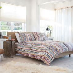 Post Stijl Colourful Striped 100% Cotton Duvet Cover Set