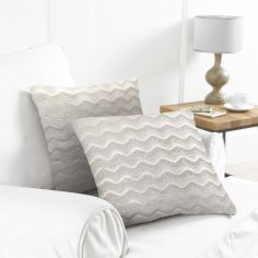 Pack of 2 Wavy Cushion Covers - Natural