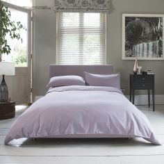 Hotel Quality Santa Fe Plain 100% Cotton Duvet Cover Set - Raspberry Pink