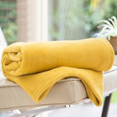 Soft Snuggle Touch Throw - Amber Yellow