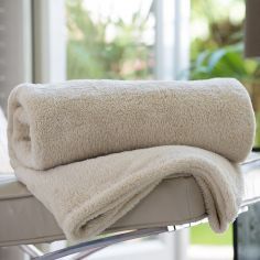 Roosevelt Soft Fleece Throw - Biscotti Natural