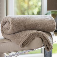 Roosevelt Soft Fleece Throw - Safari Beige