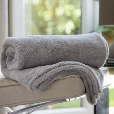 Roosevelt Soft Fleece Throw - Flint Grey
