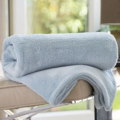 Roosevelt Soft Fleece Throw - Duck Egg Blue