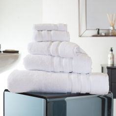 Hotel Quality Opulence 100% Cotton 800gsm Bathroom Towel - White