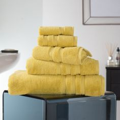 Hotel Quality Opulence 100% Cotton 800gsm Bathroom Towel - Saffron Yellow